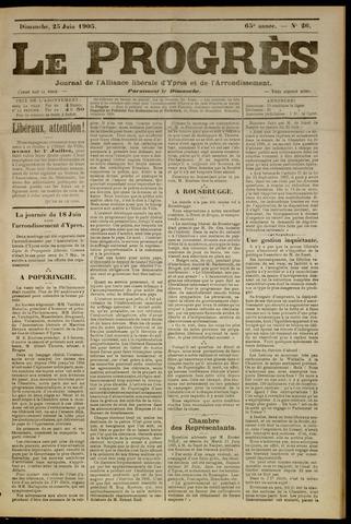 Le Progrès (1841-1914) 1905-06-25