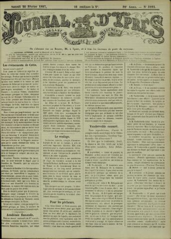 Journal d'Ypres (1874 - 1913) 1897-02-20