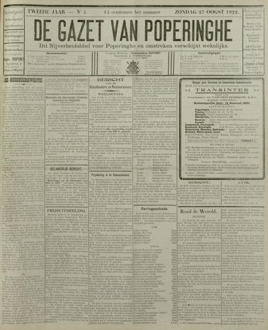 De Gazet van Poperinghe  (1921-1940) 1922-08-27