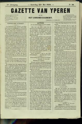 Gazette van Yperen (1857-1862) 1858-05-16