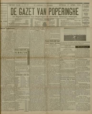 De Gazet van Poperinghe  (1921-1940) 1930-04-27