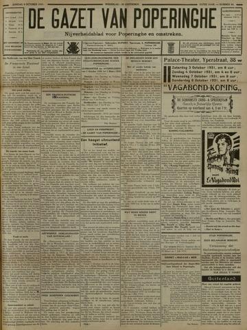 De Gazet van Poperinghe  (1921-1940) 1931-10-04