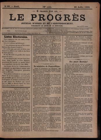 Le Progrès (1841-1914) 1892-07-28