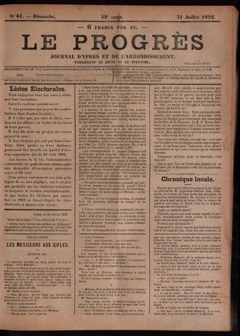 Le Progrès (1841-1914) 1892-07-31