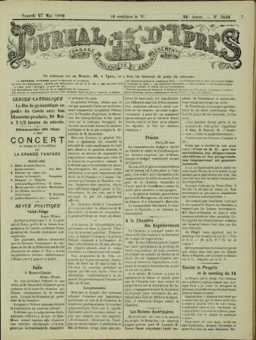 Journal d'Ypres (1874 - 1913) 1899-05-27