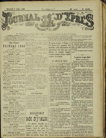 Journal d'Ypres (1874 - 1913) 1900-08-01