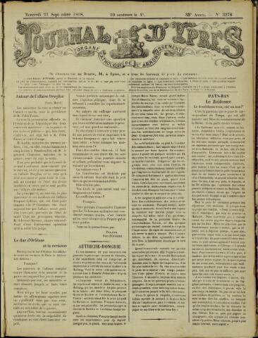 Journal d'Ypres (1874 - 1913) 1898-09-21