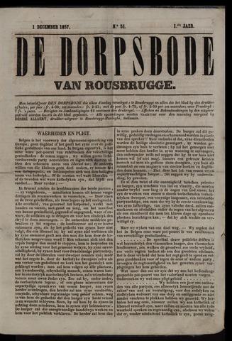 De Dorpsbode van Rousbrugge (1856-1857 en 1860-1862) 1857-12-01