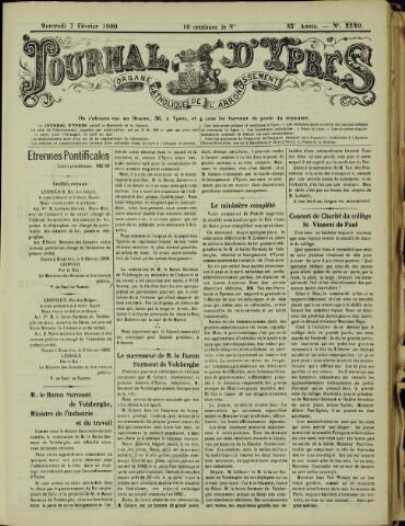 Journal d'Ypres (1874 - 1913) 1900-02-07