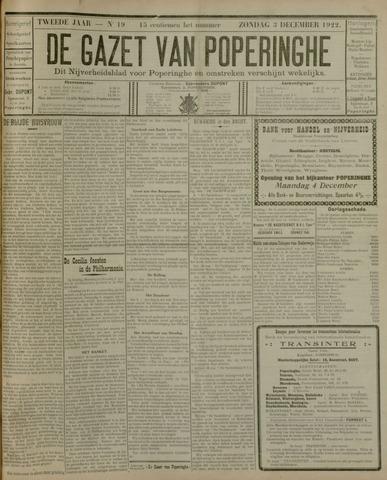 De Gazet van Poperinghe  (1921-1940) 1922-12-03
