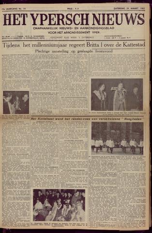 Het Ypersch nieuws (1929-1971) 1962-03-24