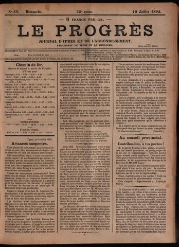 Le Progrès (1841-1914) 1892-07-10