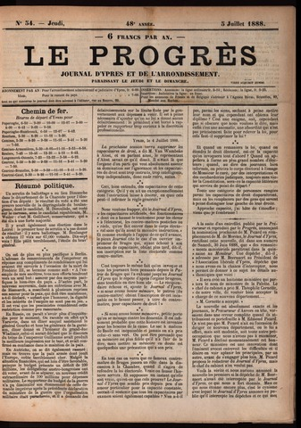 Le Progrès (1841-1914) 1888-07-05