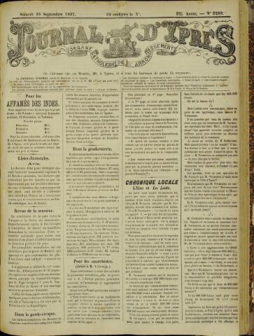 Journal d'Ypres (1874 - 1913) 1897-09-18