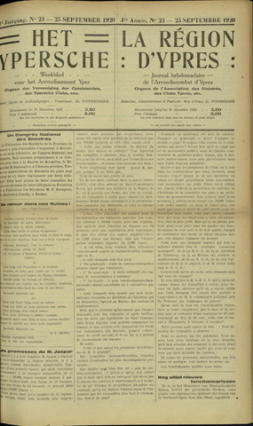 Het Ypersche (1925 - 1929) 1920-09-25