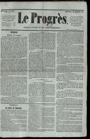 Le Progrès (1841-1914) 1847-01-10