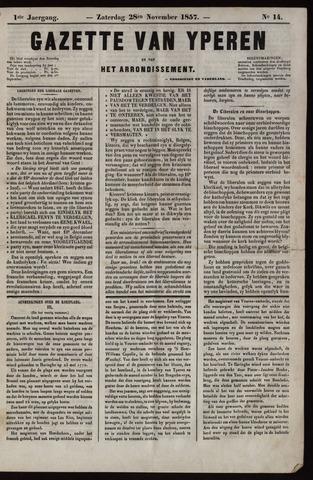 Gazette van Yperen (1857-1862) 1857-11-28