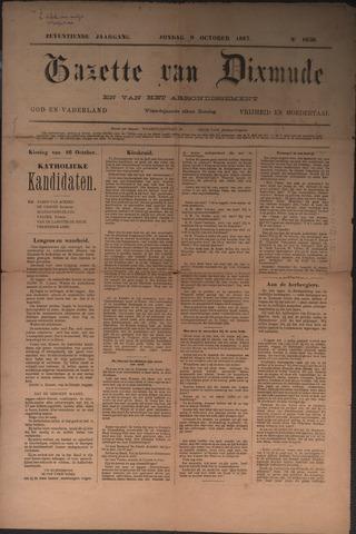 Gazette van Dixmude 1887-10-09