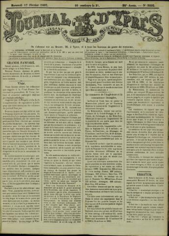 Journal d'Ypres (1874 - 1913) 1897-02-17