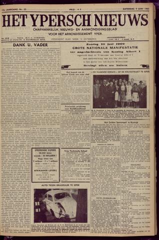 Het Ypersch nieuws (1929-1971) 1962-06-09