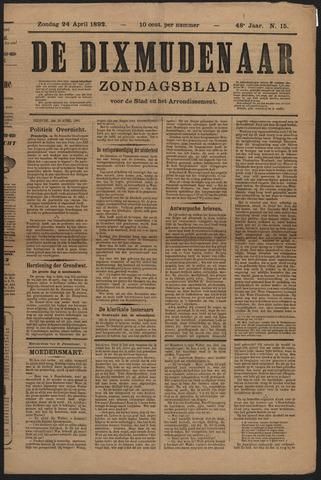 De Dixmudenaar 1892-04-24