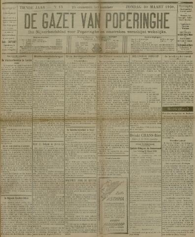 De Gazet van Poperinghe  (1921-1940) 1930-03-30