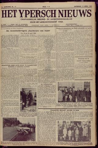 Het Ypersch nieuws (1929-1971) 1962-04-14