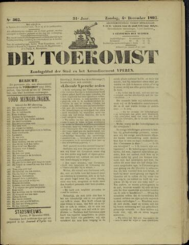 De Toekomst (1862 - 1894) 1892-12-04