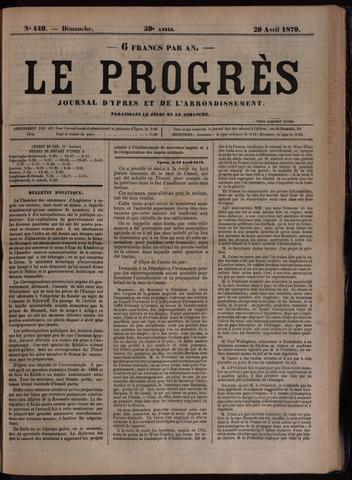 Le Progrès (1841-1914) 1879-04-20