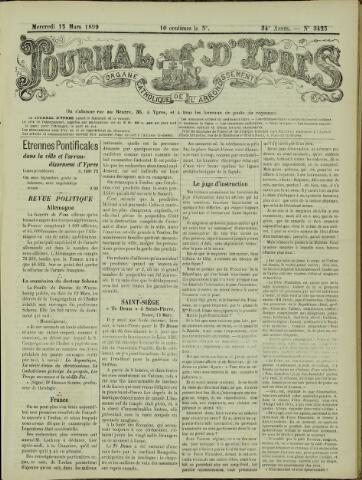 Journal d'Ypres (1874 - 1913) 1899-03-15