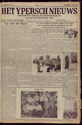 Het Ypersch nieuws (1929-1971) 1961-07-01