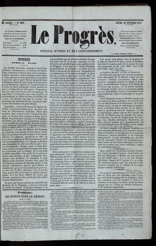 Le Progrès (1841-1914) 1847-02-25