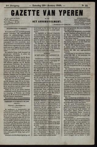 Gazette van Yperen (1857-1862) 1858-01-23