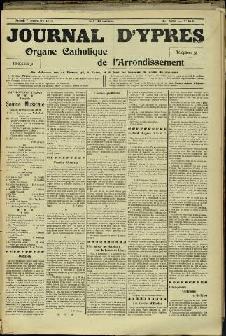 Journal d'Ypres (1874 - 1913) 1912-09-09