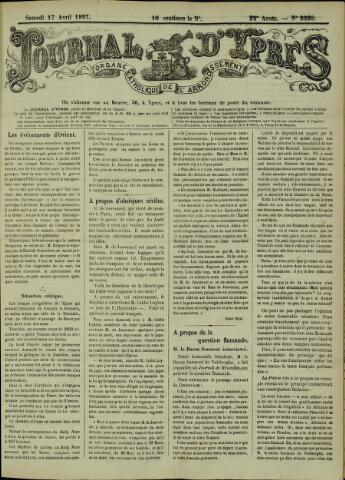 Journal d'Ypres (1874 - 1913) 1897-04-17