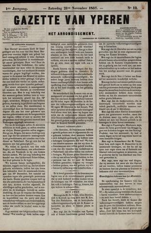 Gazette van Yperen (1857-1862) 1857-11-21