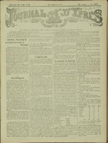 Journal d'Ypres (1874 - 1913) 1899-04-26