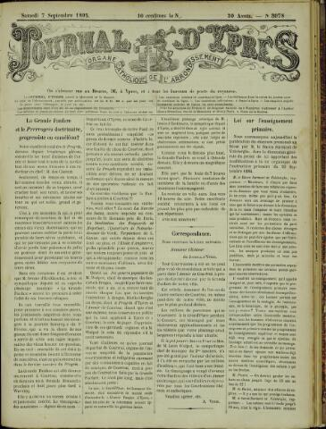 Journal d'Ypres (1874 - 1913) 1895-09-07