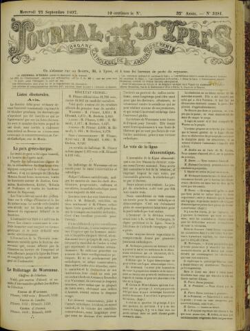 Journal d'Ypres (1874 - 1913) 1897-09-22