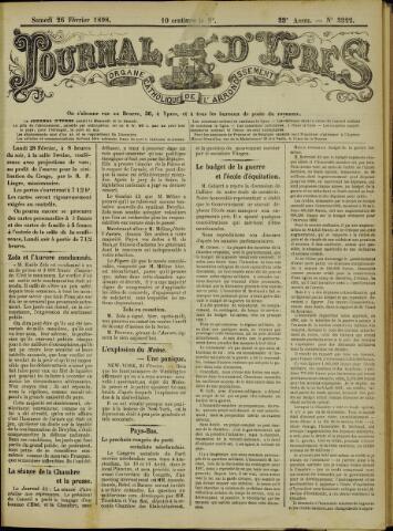 Journal d'Ypres (1874 - 1913) 1898-02-26