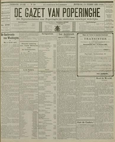 De Gazet van Poperinghe  (1921-1940) 1922-02-19
