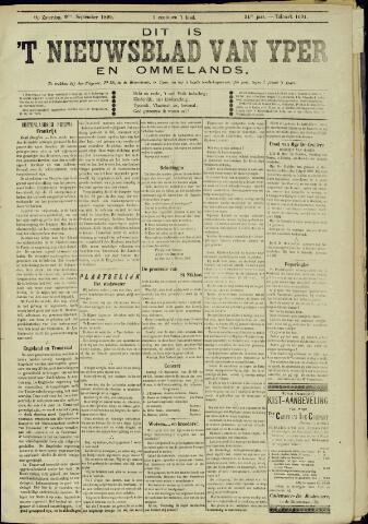 Nieuwsblad van Yperen en van het Arrondissement (1872 - 1912) 1899-09-09