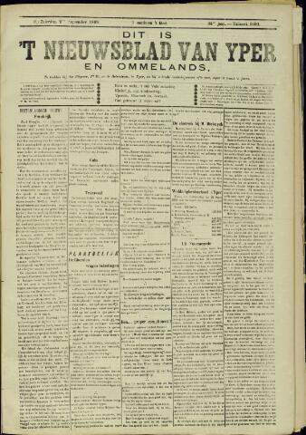 Nieuwsblad van Yperen en van het Arrondissement (1872 - 1912) 1899-09-02
