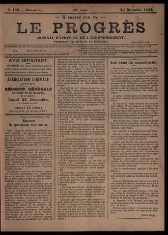 Le Progrès (1841-1914) 1892-12-25