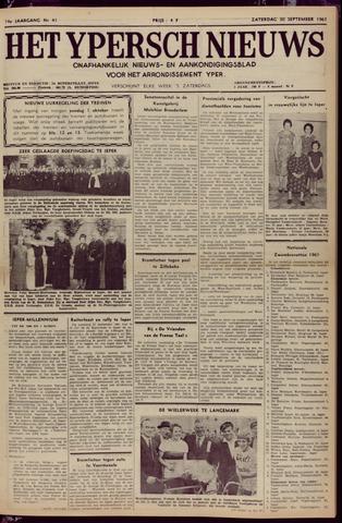 Het Ypersch nieuws (1929-1971) 1961-09-30