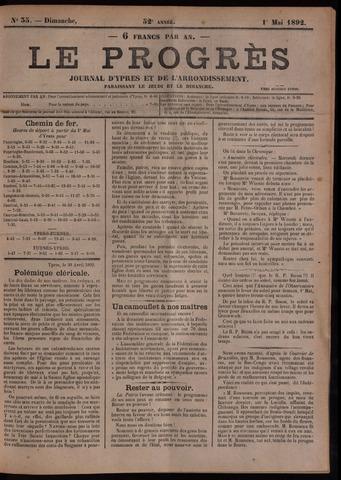 Le Progrès (1841-1914) 1892-05-01