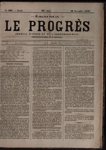 Le Progrès (1841-1914) 1879-11-20