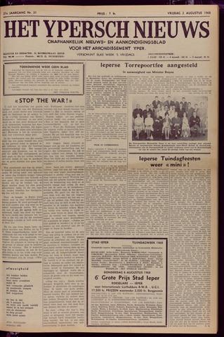 Het Ypersch nieuws (1929-1971) 1968-08-02