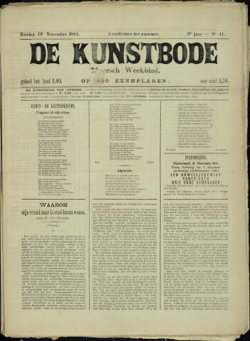 De Kunstbode (1880 - 1883) 1881-11-13