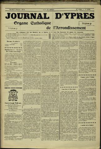 Journal d'Ypres (1874 - 1913) 1912-02-17